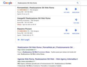 Sviluppo Siti Web Roma in Prima Pagina Google