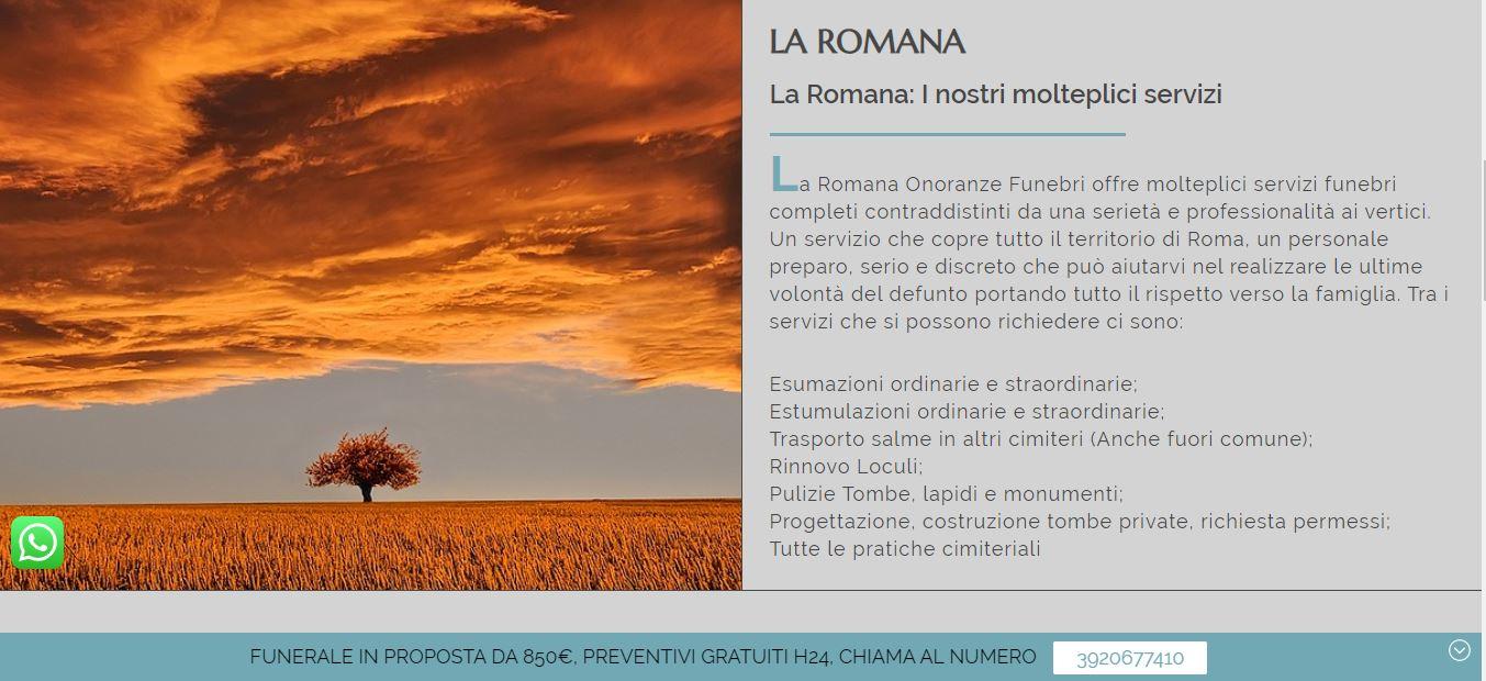 REALIZZAZIONE SITI WEB PER AGENZIE FUNEBRI ROMA