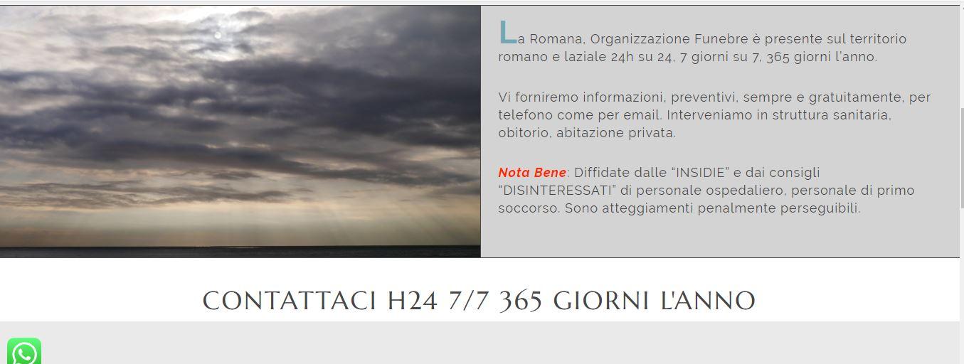 WEB AGENCY ROMA PER POMPE FUNEBRI ROMA