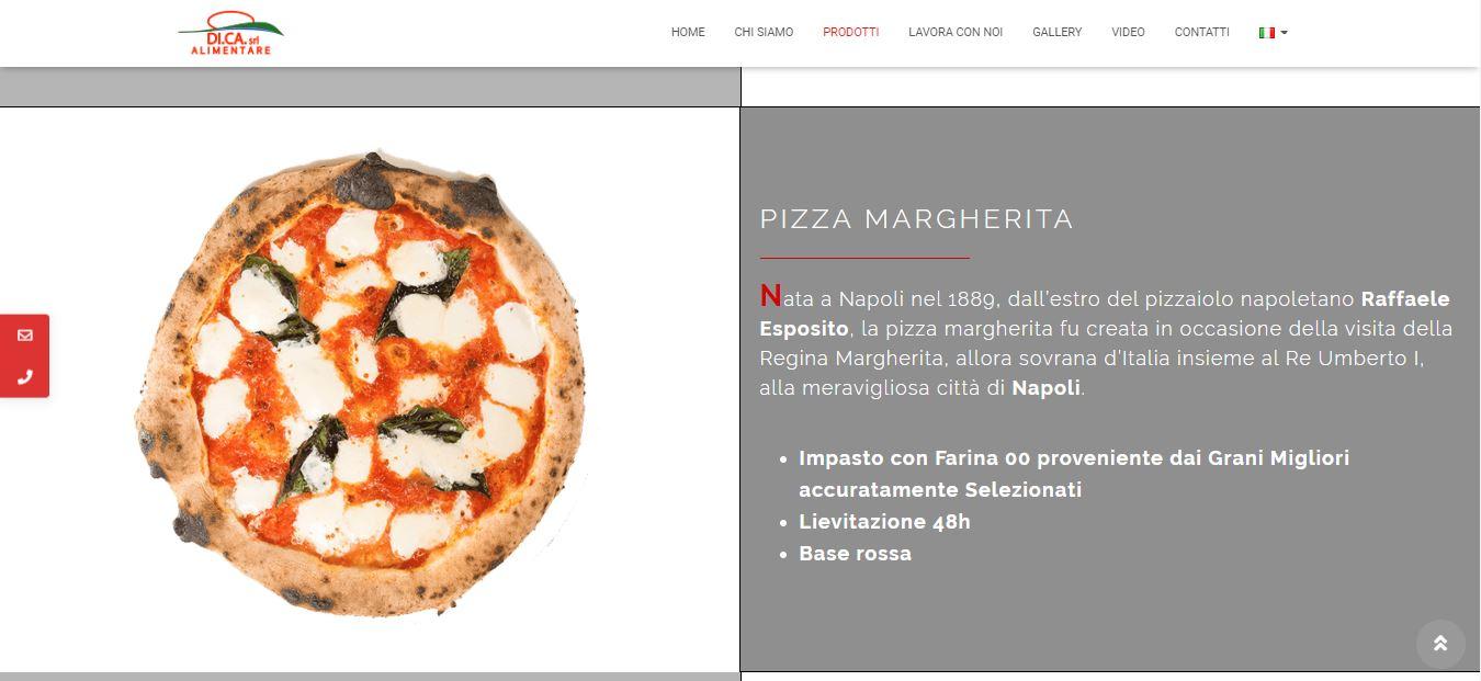 WEB AGENCY PER CREAZIONE SITI WEB ROMA PER FABBRICA PIZZE ROMA