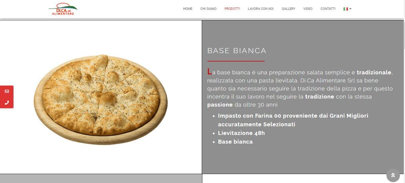 REALIZZAZIONE SITI WEB ROMA PER FABBRICA PIZZE