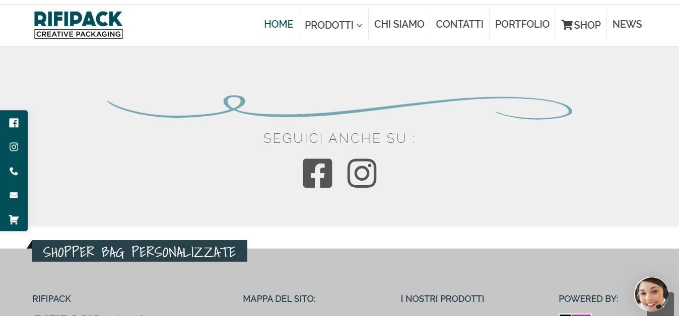 Sviluppo Siti Web E-commerce Roma per Industrie Shopper Personalizzate