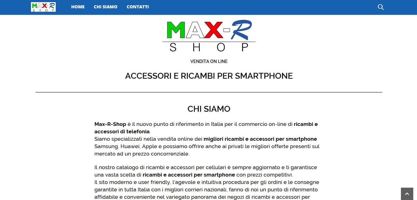 Sviluppo Sito Web E-commerce per vendita accessori telefonia