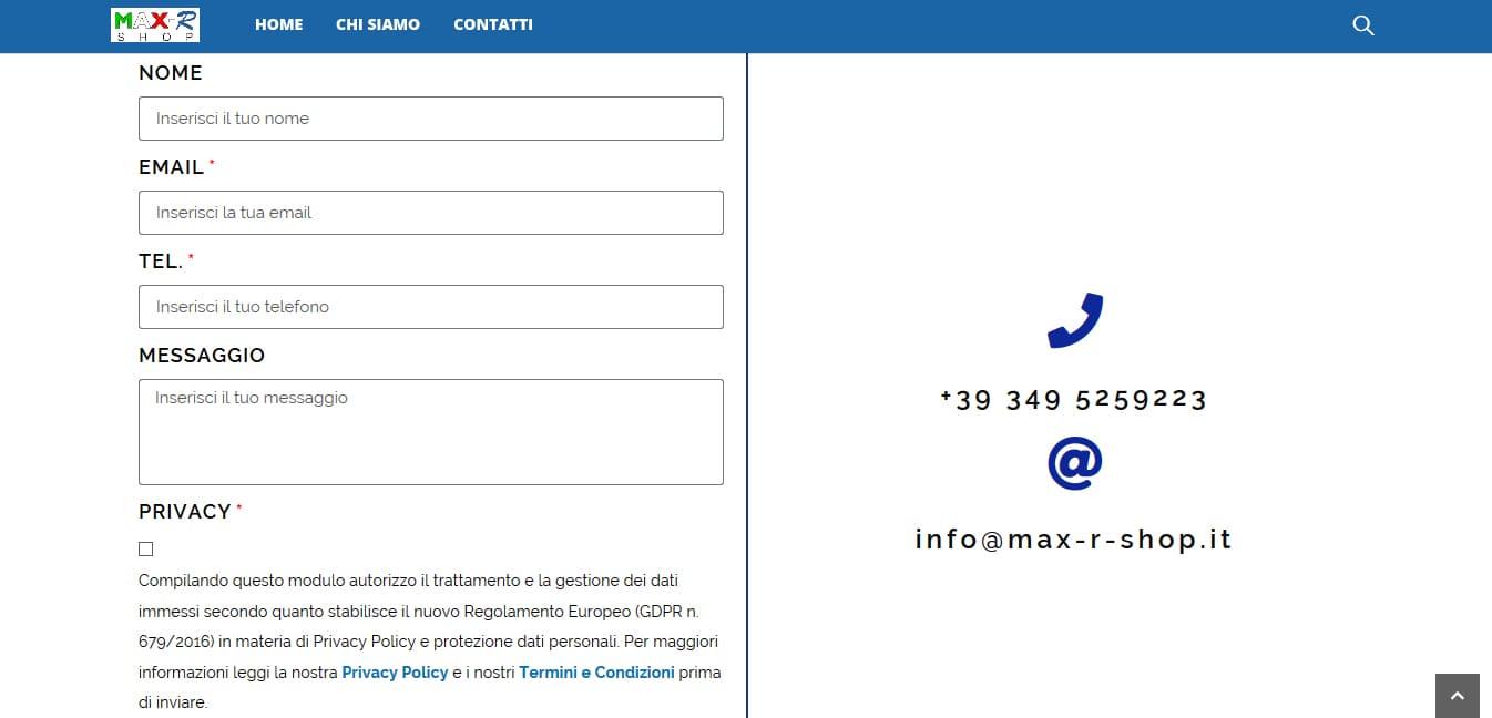 Creazione Sito Web E-commerce per vendita accessori telefonia