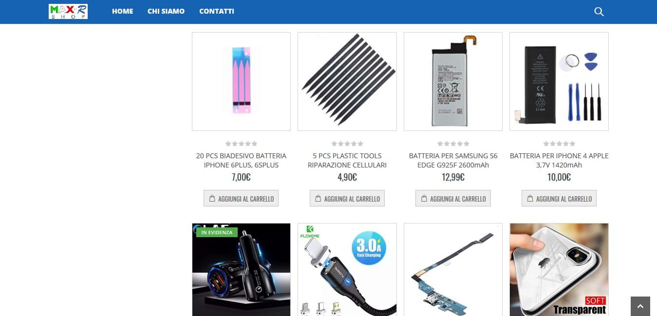 Creazione Sito Web E-commerce per vendita telefonia