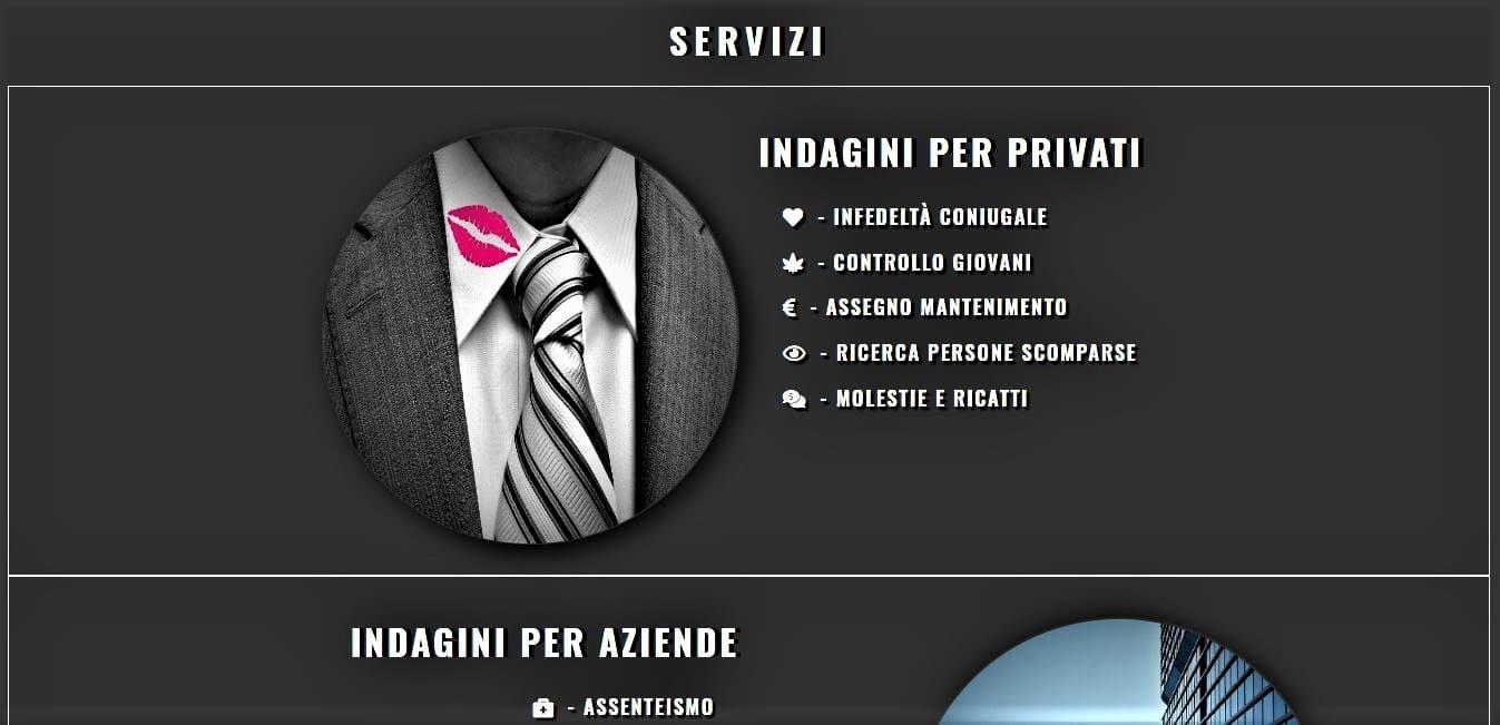 CREAZIONE SITI WEB PER INVESTIGATORE PRIVATO ROMA