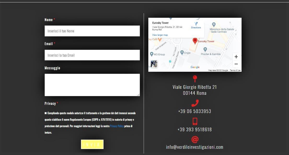 AGENZIA WEB PER INVESTIGATORE PRIVATO ROMA