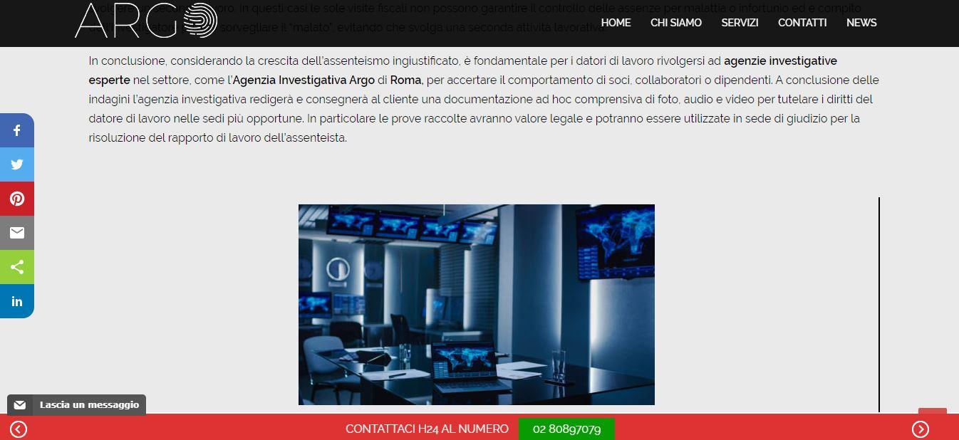 REALIZZAZIONE SITI INTERNET PER AGENZIE INVESTIGATIVE MILANO