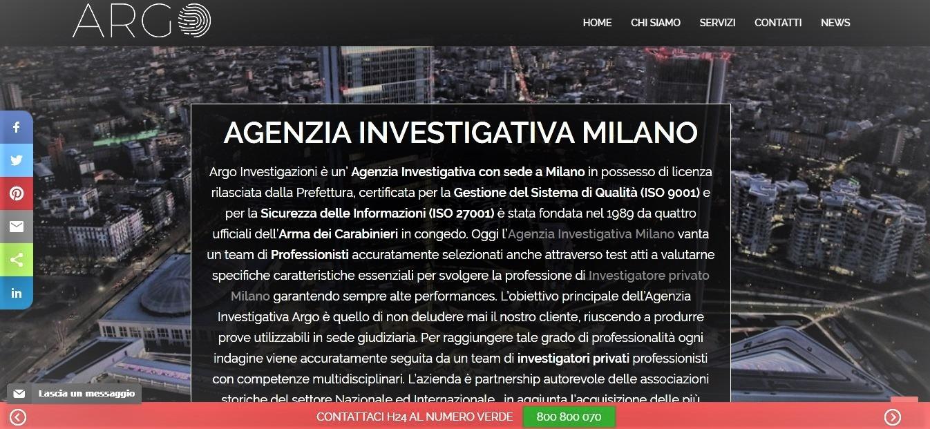 CREAZIONE SITI INTERNET PER AGENZIE INVESTIGATIVE MILANO