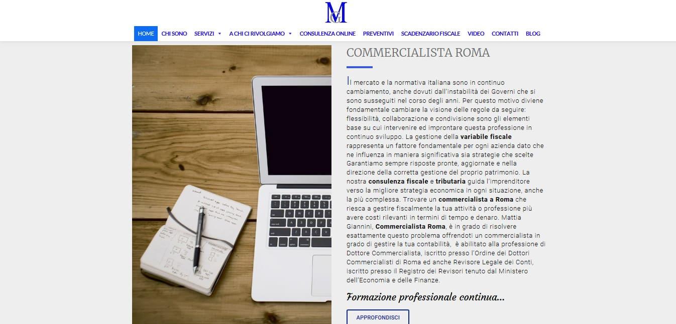 CREAZIONE SITI INTERNET ROMA PER COMMERCIALISTI ROMA