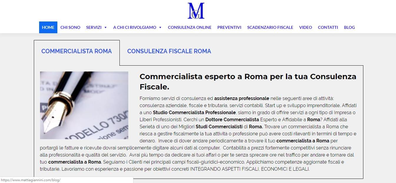 WEB AGENCY PER CREAZIONE SITI INTERNET ROMA PER COMMERCIALISTI ROMA