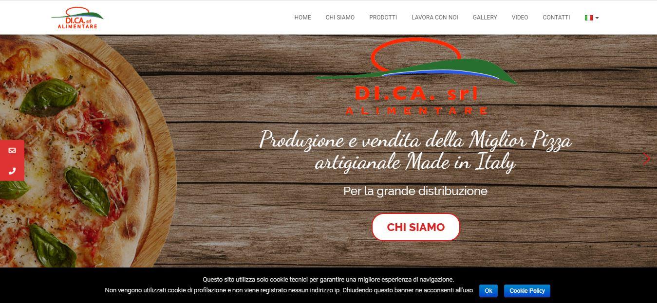 REALIZZAZIONE SITI WEB ROMA PER FABBRICA PIZZE ROMA