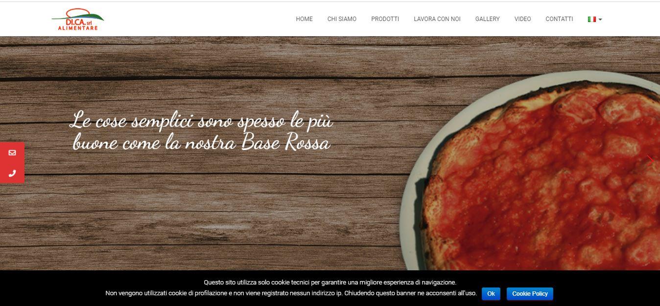 CREAZIONE SITI WEB ROMA PER FABBRICA PIZZE ROMA