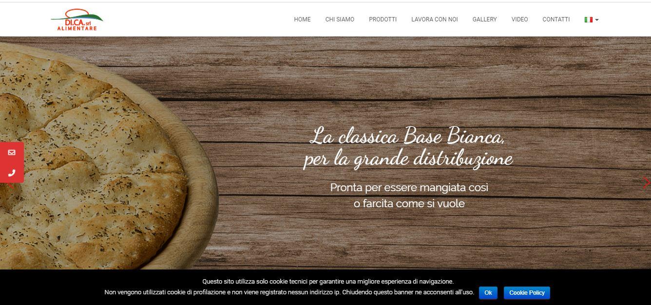 SVILUPPO SITI WEB ROMA PER FABBRICA PIZZE ROMA