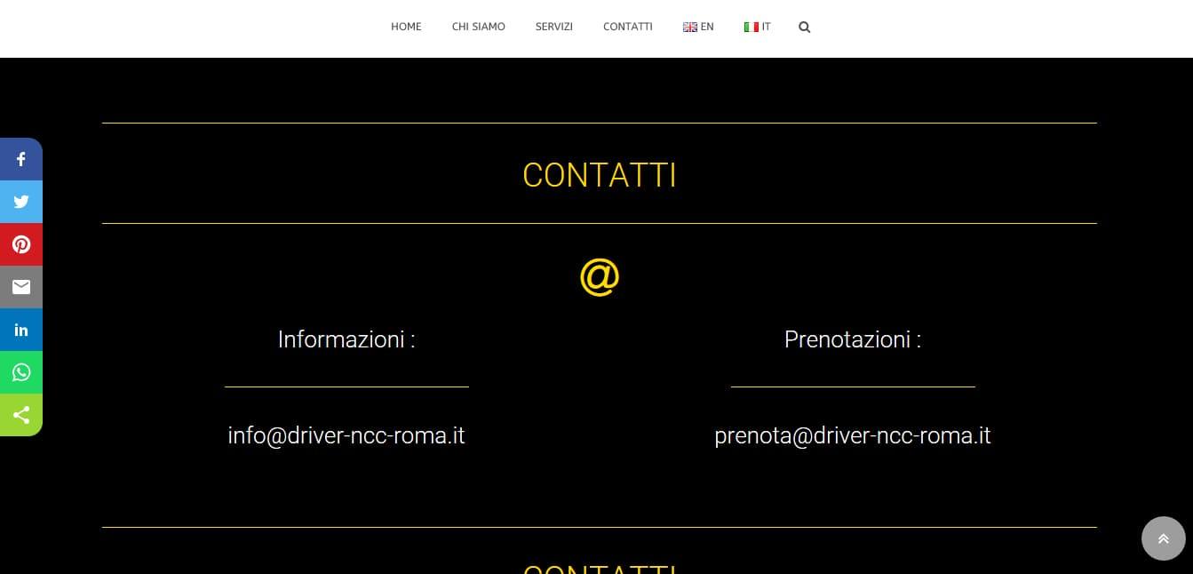 CREAZIONE SITI WEB PER NCC ROMA