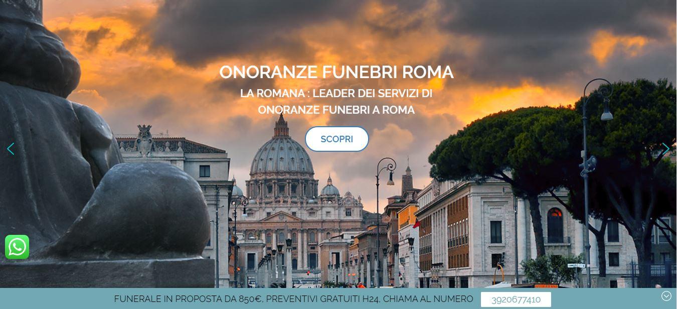 SVILUPPO SITI INTERNET PER AGENZIE FUNEBRI ROMA