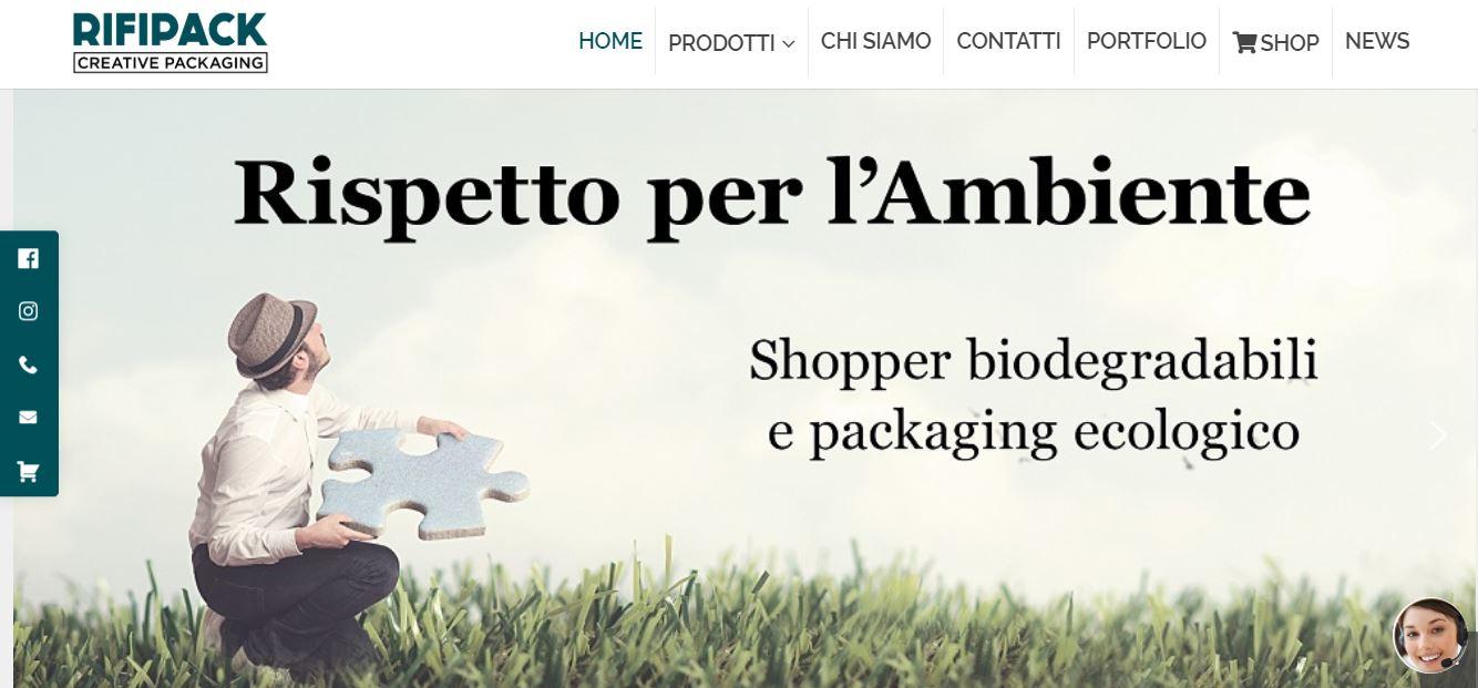 Realizzazione Siti E-commerce Roma per Industrie Shopper Personalizzate