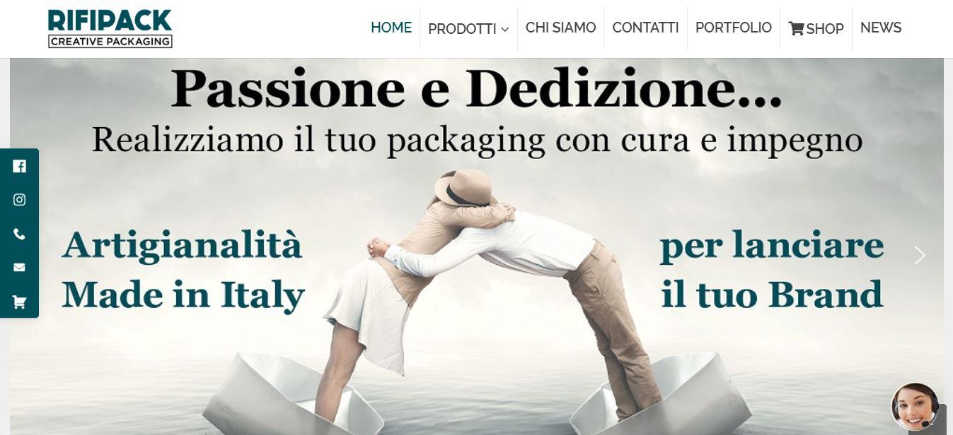 Sviluppo Siti E-commerce Roma per Industrie Shopper Personalizzate