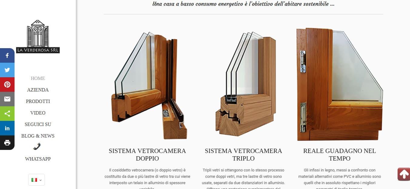Realizzazione Siti web Roma per Falegnamerie
