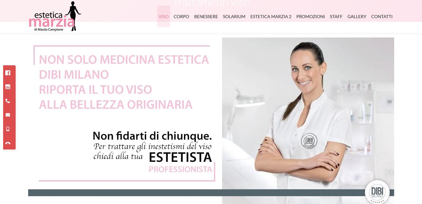 SVILUPPO SITI INTERNET PER CENTRO ESTETICO ROMA OSTIA