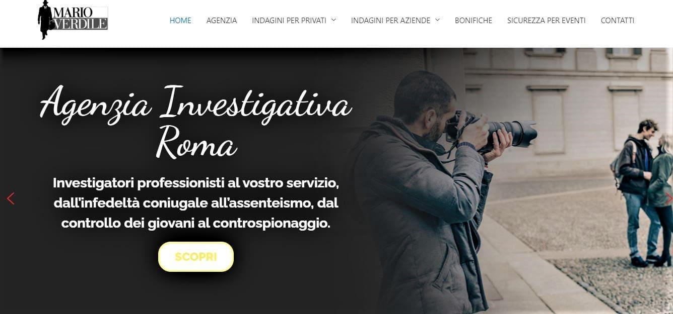 SVILUPPO SITI WEB PER AGENZIA INVESTIGATIVA ROMA