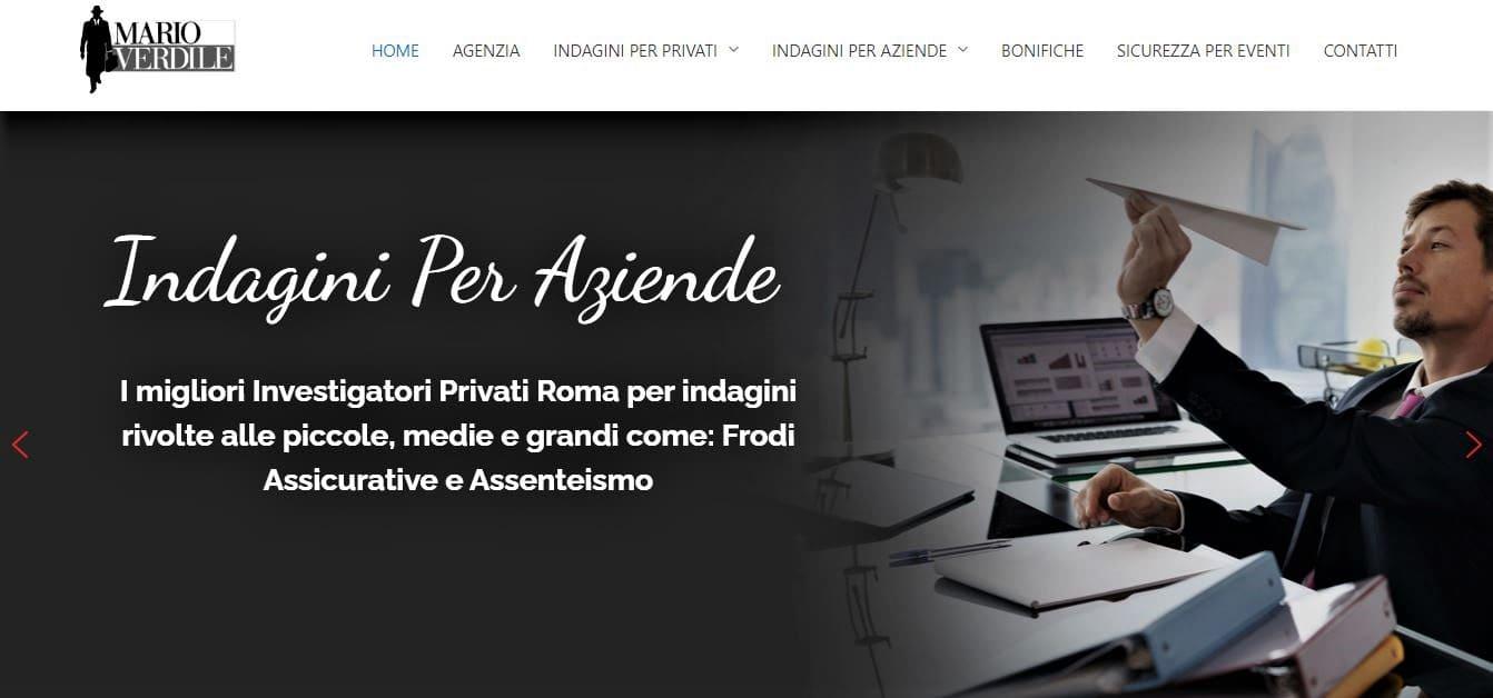 WEB AGENCY ROMA PER SVILUPPO SITI WEB PER AGENZIA INVESTIGATIVA ROMA