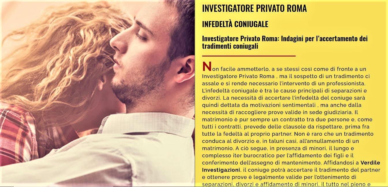 WEB AGENCY ROMA PER REALIZZAZIONE SITI WEB PER AGENZIA INVESTIGATIVA ROMA