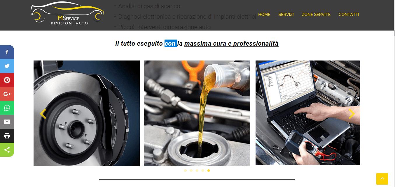 SVILUPPO SITI WEB ROMA PER CENTRI REVISIONI
