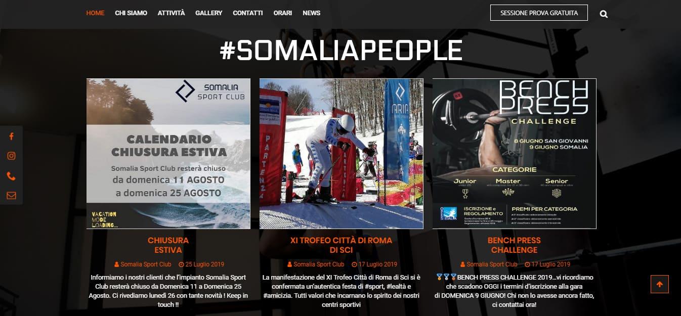 Realizzazione Sito Web per Centro Fitness Largo Somalia