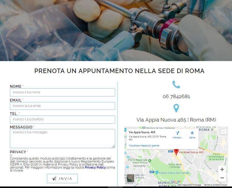 CREAZIONE SITI INTERNET ROMA PER CHIRURGHI ORTOPEDICI
