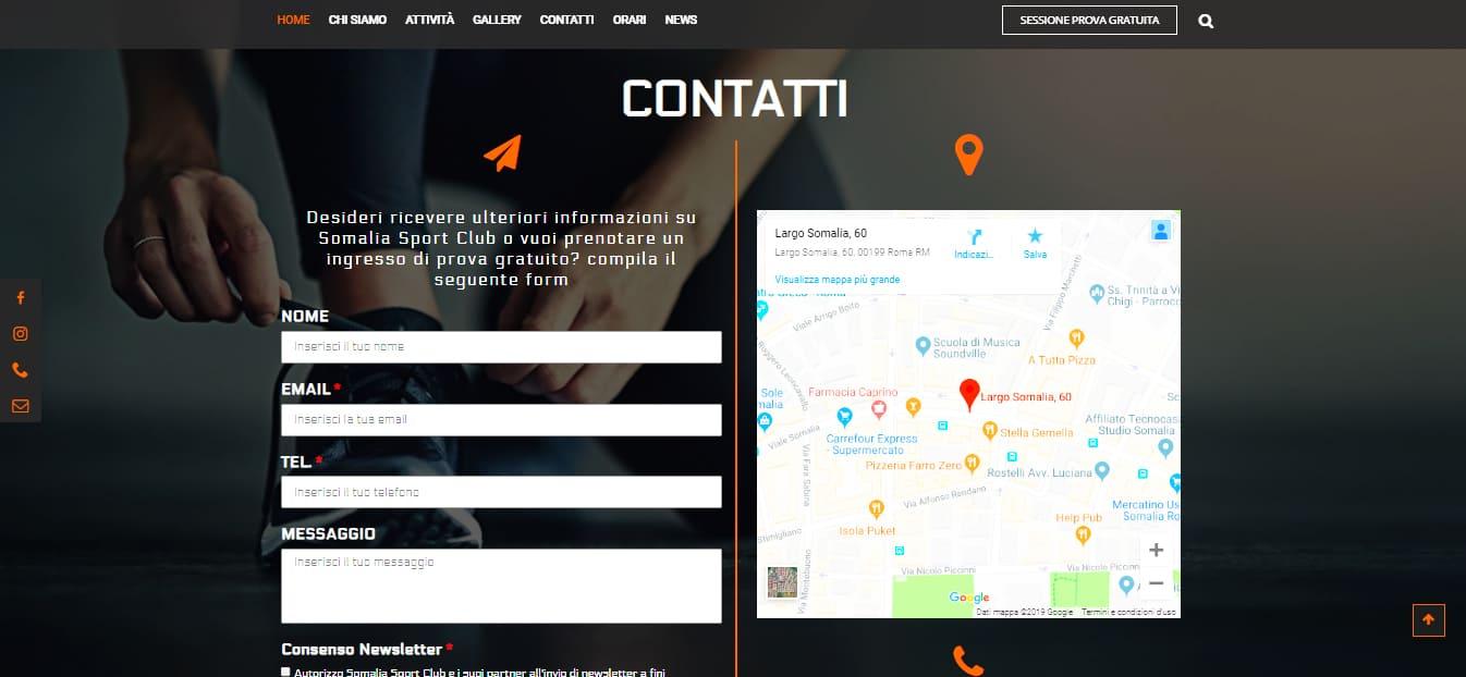 Web Agency a Roma per Palestra a Roma