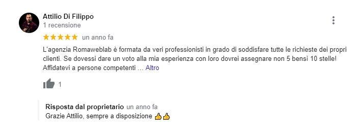 Agenzia Web Roma Recensione Sito Fotografo