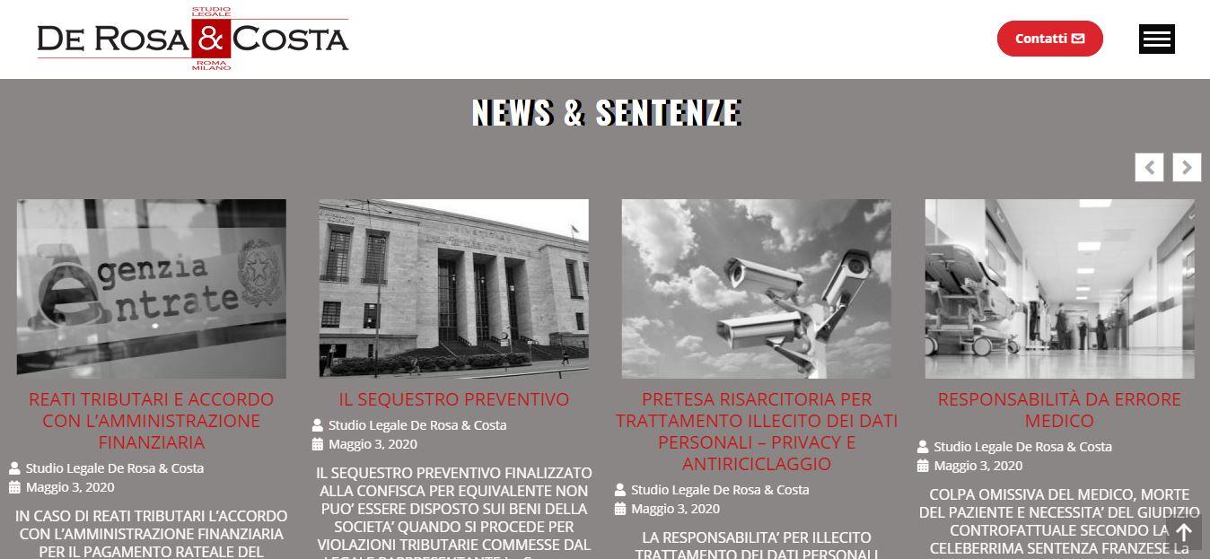 REALIZZAZIONE SITO INTERNET PER STUDIO LEGALE ROMA