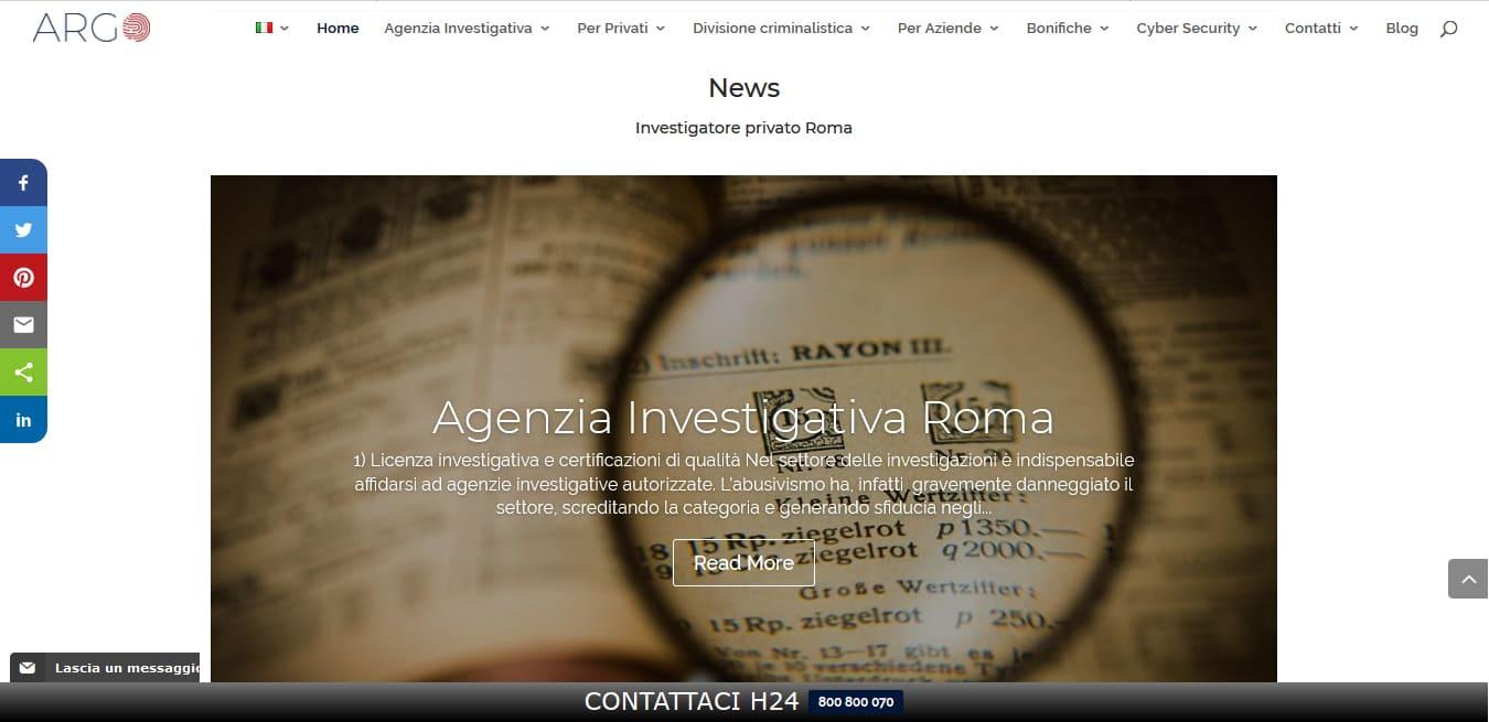 REALIZZAZIONE SITI WEB ROMA PER AGENZIE INVESTIGATIVE