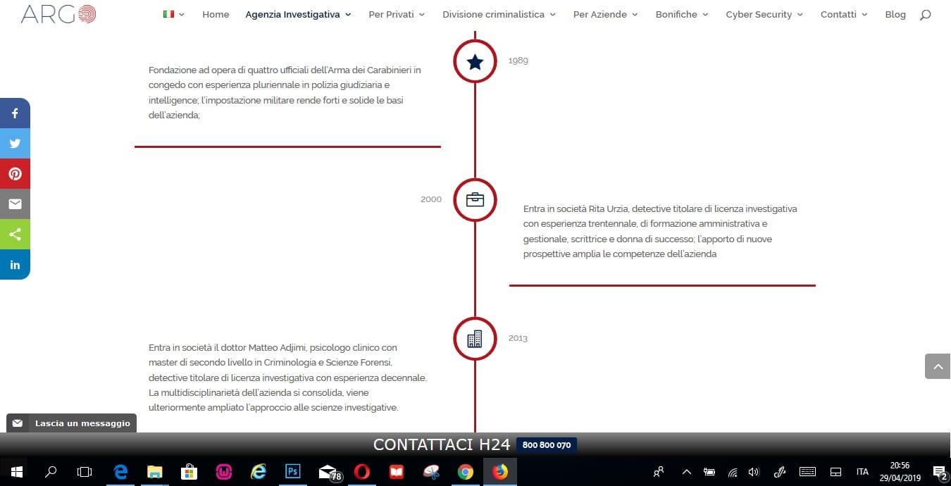 REALIZZAZIONE SITI INTERNET ROMA PER AGENZIE INVESTIGATIVE