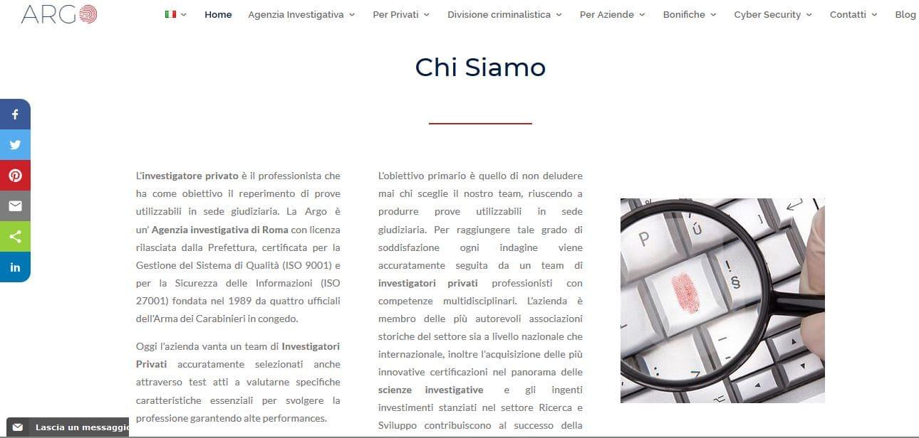 AGENZIA WEB ROMA PER INVESTIGATORI PRIVATI