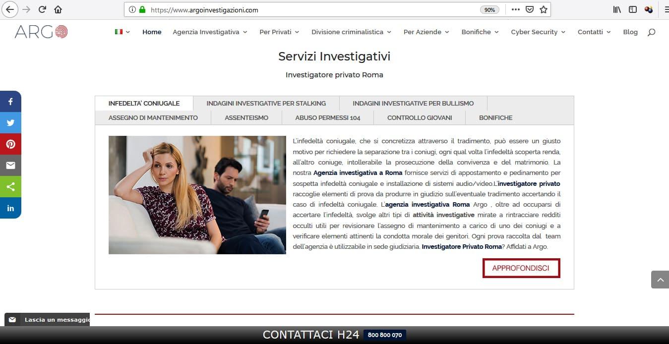 AGENZIA WEB ROMA PER SVILUPPO SITI WEB PER INVESTIGATORI PRIVATI