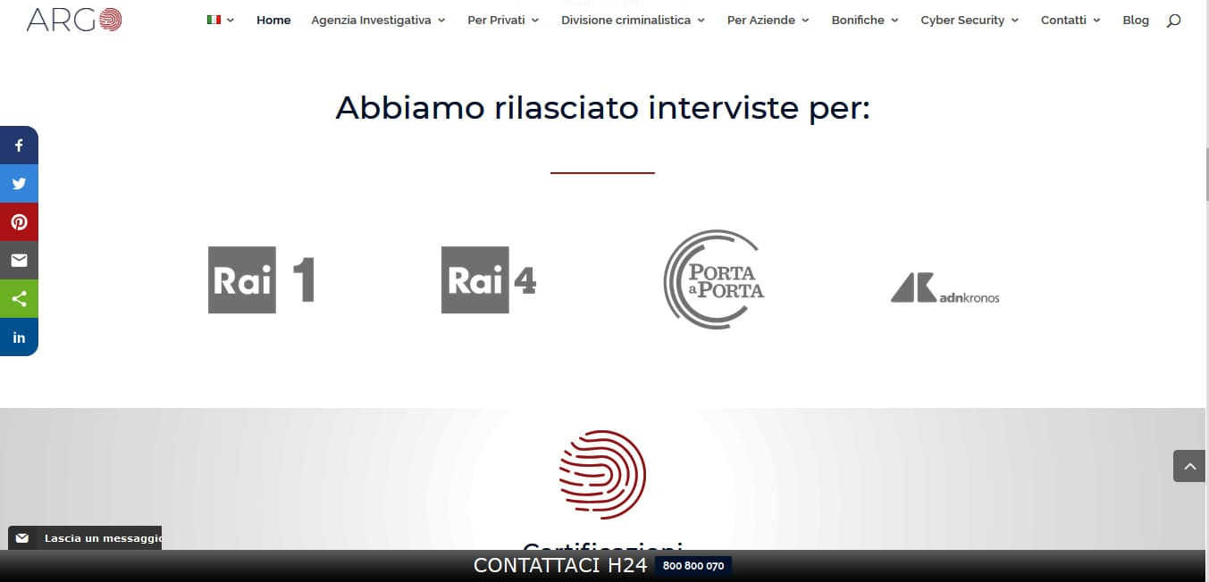 WEB AGENCY ROMA PER SVILUPPO SITI WEB PER INVESTIGATORI PRIVATI