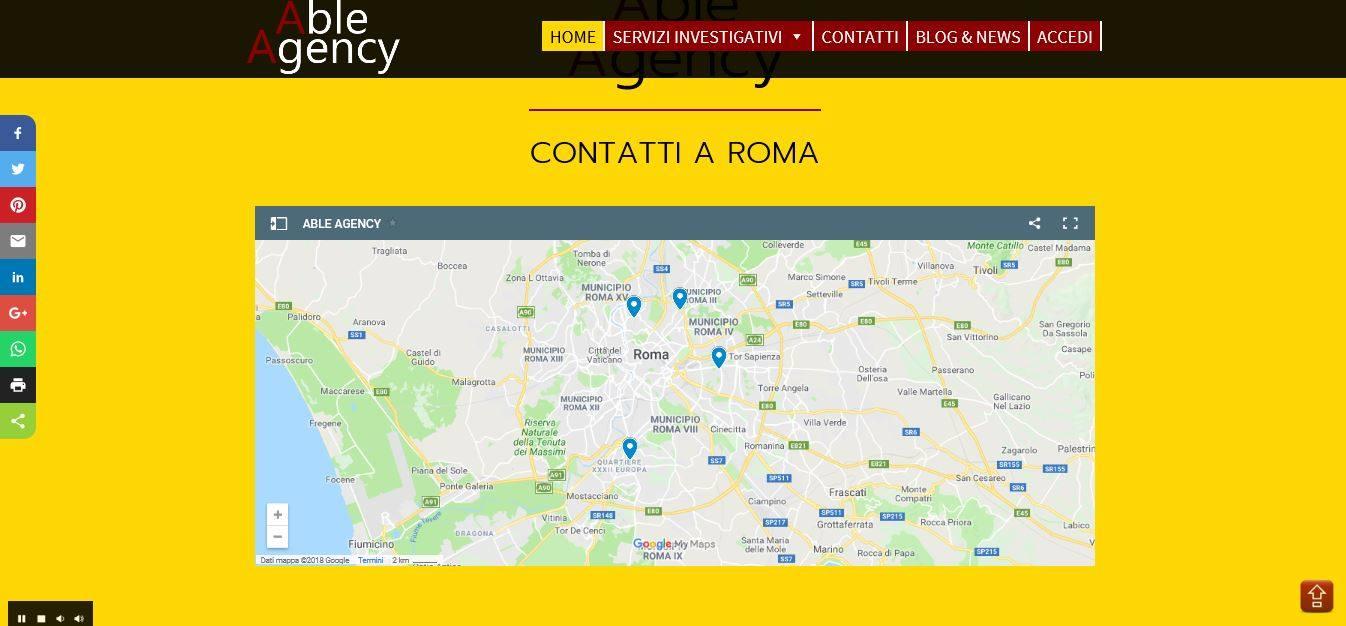 CREAZIONE SITI INTERNET ROMA PER INVESTIGATORE PRIVATO