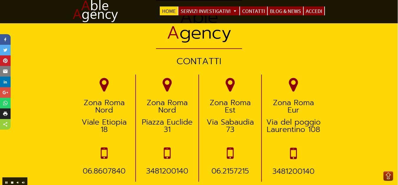 SVILUPPO SITI WEB ROMA PER INVESTIGATORE PRIVATO
