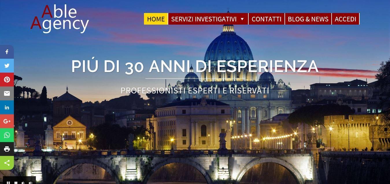 WEB AGENCY ROMA PER INVESTIGATORI PRIVATI