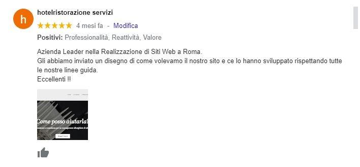 Web Agency Roma Recensione Realizzazione Sito Web per Ditta Ristrutturazioni