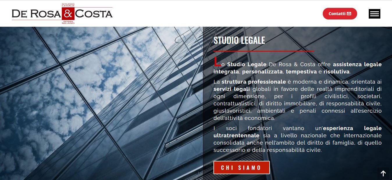 CREAZIONE SITI WEB A ROMA PER STUDI LEGALI A ROMA E MILANO